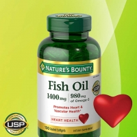 鱼油Nature's Bounty Fish Oil 1400 mg., 130 Softgels