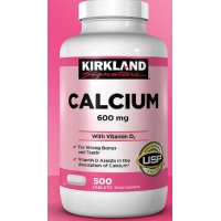 钙Kirkland Signature Calcium 600 mg. with Vitamin D