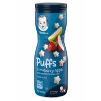 嘉宝泡芙辅食Gerber Puffs Strawberry Apple - 1.48oz