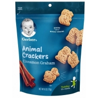 嘉宝动物饼干 Gerber Cinnamon Graham Animal Crackers - 6o
