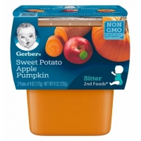 嘉宝果泥辅食第二阶段Gerber 2nd Foods Sweet Potato Apple Pump