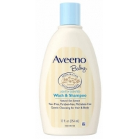 婴儿洗发沐浴露 Aveeno Baby Wash and Shampoo - 12.0oz