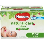 好奇婴儿湿纸巾Huggies Natural Care Plus Wipes 1,152-count