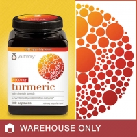 护肝片youtheory Turmeric 1,000 mg., 180 Capsules