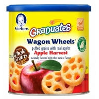 嘉宝饼干泡芙辅食Gerber Wagon Wheels, Apple Harvest, -1.48o