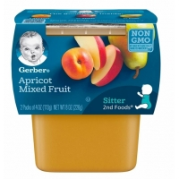 嘉宝果泥二阶段辅食Gerber 2nd Foods Apricot Mixed Fruit Baby