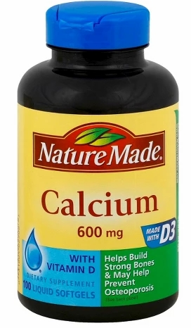 钙 100片Nature Made Calcium Dietary Supplement Liqui